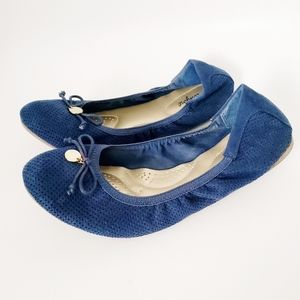 Dexflex Comfort Navy Blue Round Toe Ballet Flats